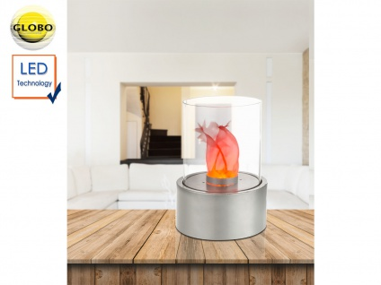 LED Tischlampe FIRE rund Design Tischkamin elektrisch für Indoor DEKOTischfeuer