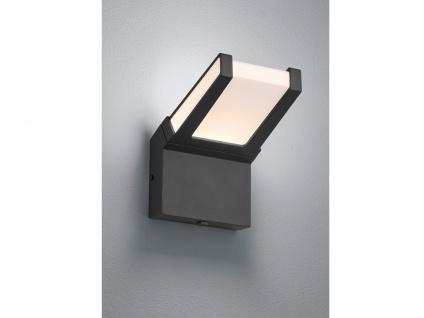 LED Außenbeleuchtug - Eckige Wandlampe mit Dämmerungssensor, Aluminium Anthrazit