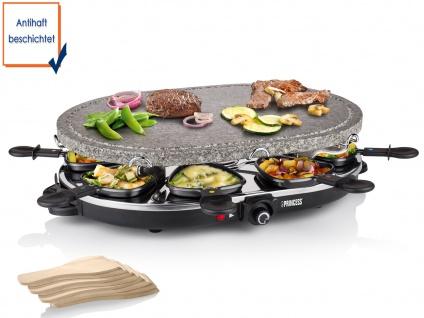Raclette mit Steinplatte Antihaftbeschichtung 1200 Watt für 8 Personen