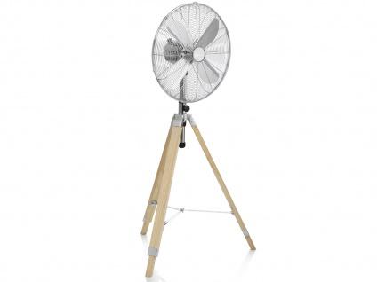 Oszillierender Standventilator mit Holzstativ höhenverstellbar Ø 45cm fürs Büro - Vorschau 2
