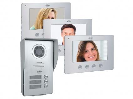 3 Familien Video Türgegensprechanlage mit Nachtsichtkamera - Wechselsprechanlage