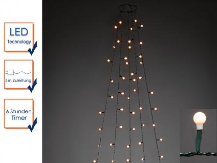 Lichterkette Innen 150 bernsteinfarbene LEDs & Timer Weihnachtsbaum Beleuchtung - Vorschau 4