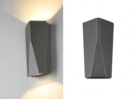 Eckige Außenlampen im 2er SET, LED Up & Down Wandbeleuchtung im Clean Cut Design