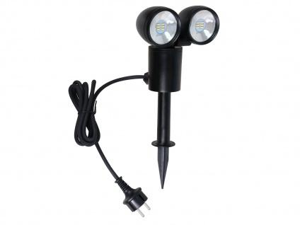 Doppel LED-Scheinwerfer mit Erdspiess / Gartenscheinwerfer Außenspot 6 Watt