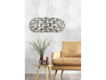 Dimmbare LED Hängelampe mit Spiegelapplikationen aus Metall in glänzendem Chrom