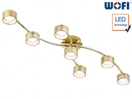 7-fl. LED Deckenleuchte goldfarben 35W Deckenbeleuchtung Wohnzimmer Dielenlampe
