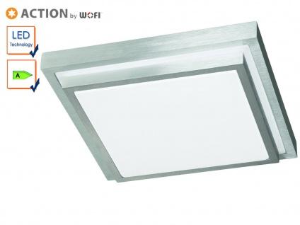 Stufenförmige LED Deckenleuchte Alu gebürstet, Action by Wofi