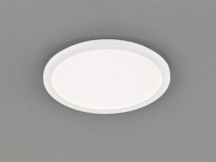 LED Deckenleuchte CAMILLUS flache Badezimmerlampe Rund Ø40cm in Weiß IP44