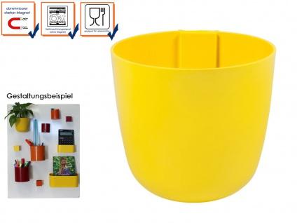 Kunststofftopf mit Magnet Ø 15 cm Gelb, Wandaufbewahrung Wanddeko, KalaMitica