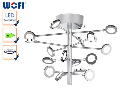 LED Deckenleuchte JOYCE, Chrom, Ø 51 cm, Deckenlampen LED Deckenleuchten