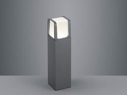 40cm hohe LED Gartenbeleuchtung aus ALU in anthrazit, moderne Gehwegleuchte IP54 - Vorschau 1