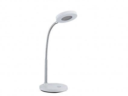 Flexible LED Schreibtischleuchte weiß, Schalter, Action by Wofi