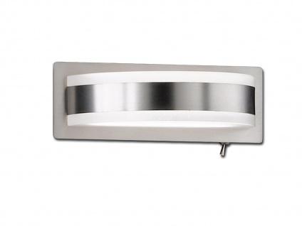 LED Wandleuchte mit Schalter Nickel matt Acrylglas weiß Wandlampe Designerlampe