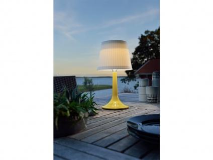 Solar High Power LED-Tischlampe / Tischleuchte ASSISI, gelb Höhe 36 cm - Vorschau 4