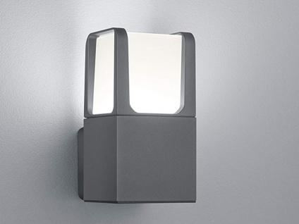 LED Fassadenbeleuchtung aus ALU in anthrazit, moderne Gehwegleuchte H20cm IP54