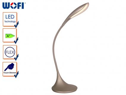 LED Schreibtischleuchte, 3-Stufen Dimmer, Flexarm, Tischlampe LED Tischleuchte