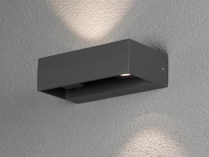 Eckige LED Außenleuchte Anthrazit Up & Down wählbar Hauswand Fassadenbeleuchtung - Vorschau 1