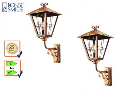 2er Set Außenwandleuchte Laterne Kupfer, Fassadenbeleuchtung, IP44, Konstsmide