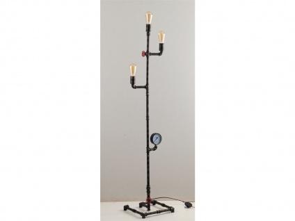 Außergewöhnliche LED Stehlampe Industrial Design mit Wasserrohr Rostoptik antik - Vorschau 5