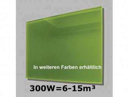 300W Infrarot-Glaspaneel grün, 70x50cm, für Räume 6-15m³