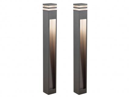 2er-Set Wegeleuchten MASSA anthrazit, 8 Watt HP-LED, 800 Lumen, IP54 - Vorschau 2
