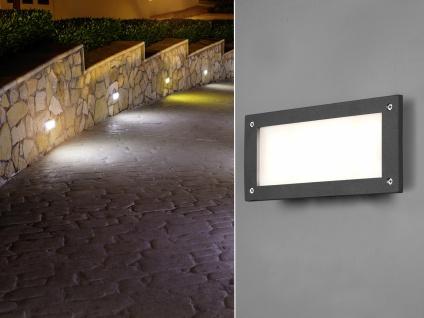 LED Wandeinbauleuchte aussen Anthrazit Treppenbeleuchtung Orientierungsleuchten