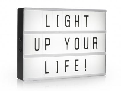 Light-Box Leuchtkasten A3 mit 85 Buchstaben + Symbolen, batteriebetrieben - Vorschau 2