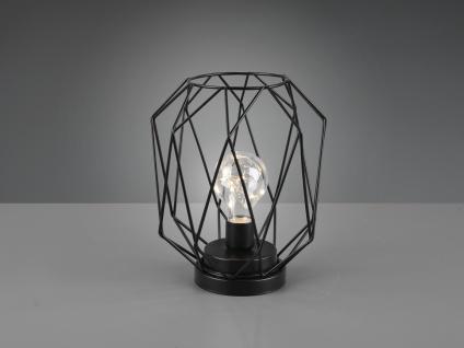 Kleine LED Tischlampe mit Batterie Industrial Gitterlampen Nachtischlampen Flur