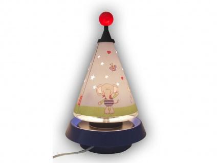 Nachttischleuchte mit 3er Set Leuchtmittel Carrousel projiziert Mond und Sterne - Vorschau 3