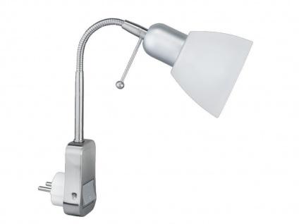 TRIO Stecker-Spot, 1 x E14, Schalter+Flexarm, Kunststoffschirm weiss