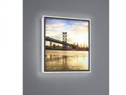 LED Wandbild beleuchtetes Bild Brücke mit Licht Hintergrundbeleuchtung Wanddeko