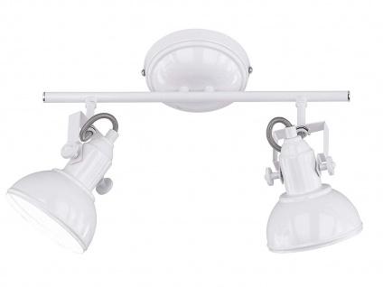 Deckenspot im Retro Look aus Metall in Weiß dreh-und schwenkbar Wandstrahler E14 - Vorschau 2