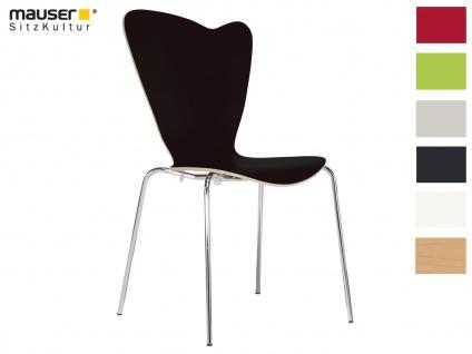 Design Stuhl HEART schwarz Stapelstuhl Esszimmerstuhl Bistrostuhl Schalenstuhl