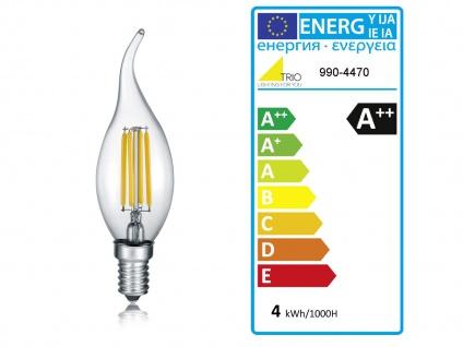 LED Kronleuchter 5 flammig aus rostfarbigem Metall für hohe Räume Esstischlampe - Vorschau 5