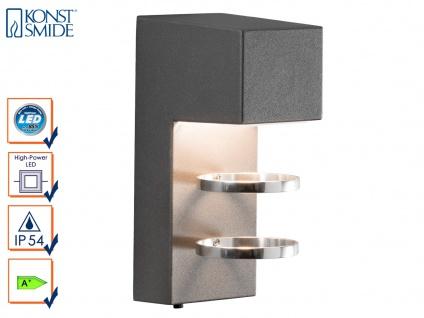 Wandleuchte ACERRA anthrazit 5 Watt LED 400 Lumen IP54 Außenleuchte