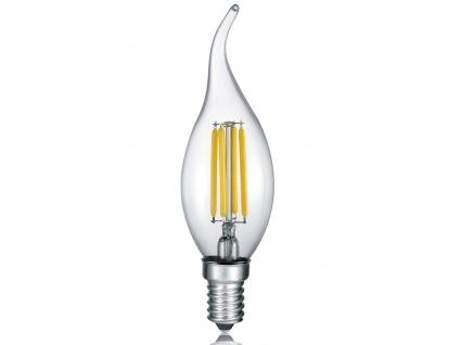 E14 LED Leuchtmittel mit 4W & 400lm in Warmweiß Windstoßkerze nicht dimmbar Glas