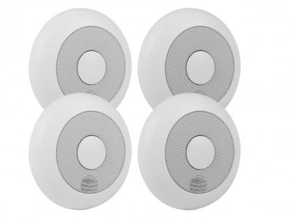 4er-Set vernetzbare Rauchmelder + Magnethalter, verlinkbar, erweiterbar - Vorschau 2