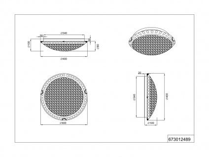 Halbrunde 40cm Glas Deckenschalen, 2er SET Mosaik Designlampen mit Switch Dimmer - Vorschau 4