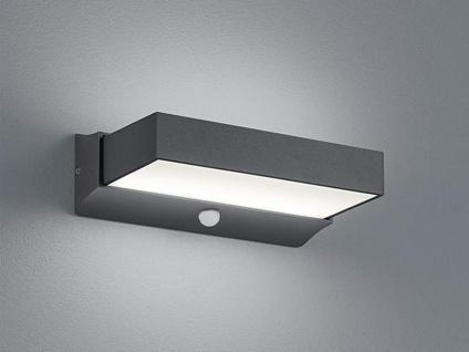 LED Gehwegleuchte mit Bewegungsmelder anthrazit up & down Wandlampe außen IP54