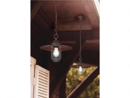 Vintage LED Außenpendelleuchte Rostoptik Hängelampen für draußen Hauseingang