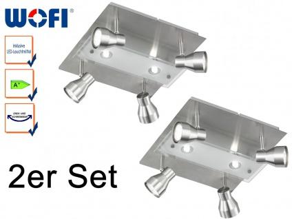 2er Set Wofi LED Deckenstrahler ROX Spots schwenkbar, Deckenleuchte Deckenlampe
