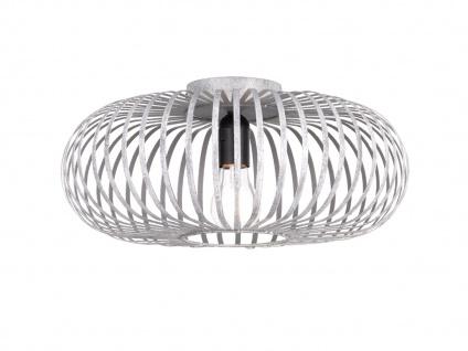 Moderne Metallschirm Silber Deckenleuchte - Wohnzimmerlampe & Schlafzimmerlampe - Vorschau 1