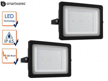 2 Stk. LED Strahler Aluminium 100W IP65 Fassadenbeleuchtung Wandstrahler außen