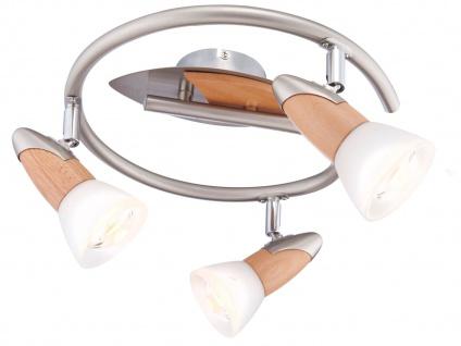 Globo 3 flammige Deckenleuchte Deckenstrahler LORD Holz, Strahler Deckenlampe