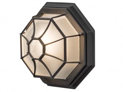 Wandleuchte / Deckenlampe für Außen LED Schwarz -Fassadenbeleuchtung Hauseingang