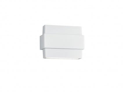 Schwenkbare LED Außenwandleuchte mit Up & Downlight Aluminiumguss matt weiß IP54
