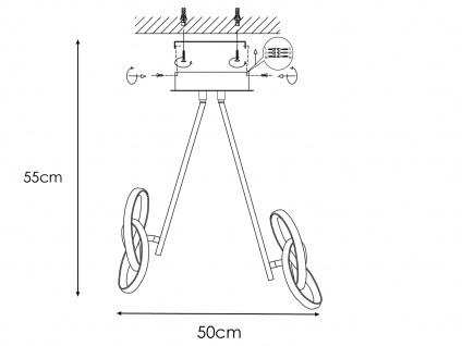 LED Deckenleuchte in Blattgold-Optik 26W verstellbar - Designerleuchte Esszimmer - Vorschau 4
