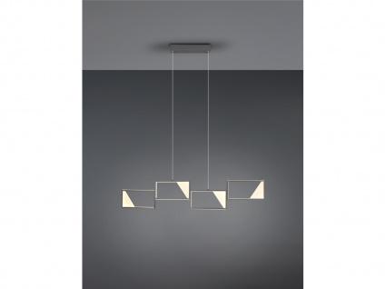Große LED Balkenpendelleuchte Wohnzimmerlampe hängend über Couchtisch Esstisch