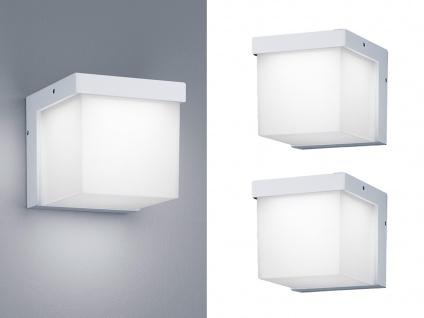 Eckige LED Außenwandleuchten in Weiß 2 Außenleuchten für Hauswand Außenbereich