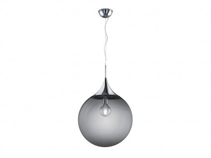 Innenlampe zum Aufhängen - Tropfenförmige Hängelampe aus Metall & Glas, Ø 45 cm